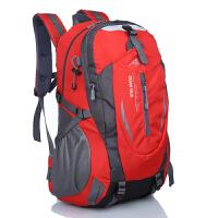 2018新款户外登山包大容量双肩包男女高中学生书包旅游旅行背包 加强版红色