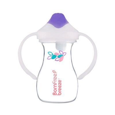 美国进口儿童水杯鸭嘴杯子婴儿防漏防呛喝水学饮杯带手柄a218 深紫色