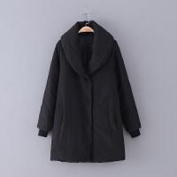 511 女装 冬季新款20 简约纯色中长款长袖女式棉衣
