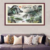 字画墙贴3d自粘壁纸卧室山水画风景画背景客厅电视墙装饰墙纸贴纸