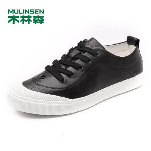木林森男鞋 男士头层牛皮舒适透气时尚休闲鞋 05177332