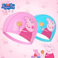 儿童泳帽小猪佩奇卡通宝宝护耳男女童游泳帽舒适不勒头发