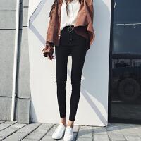 韩版cic紧身显瘦高腰打底裤女春季新款学生百搭弹小脚铅笔裤潮