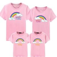 2018新款亲子装夏装一家三口子装四口装短袖纯棉春装T恤全家装