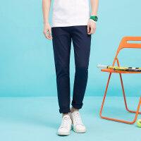 美特斯邦威裤男士2017夏装新款纯色青年裤子753407商场同款
