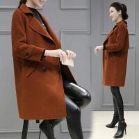 2018秋冬新款韩版女装毛呢外套女中长款显瘦呢子大衣
