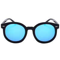 偏光太阳镜女士墨镜开车防紫外线圆脸反光眼镜潮