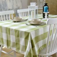 北欧格子桌布布艺茶几布餐桌布棉麻小清新长方形现代简约桌垫台布