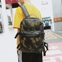 时尚学生书包电脑包 迷彩潮流皮质双肩包 户外休闲大容量旅行背包