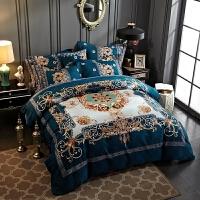 英伦加厚磨毛四件套全棉棉被套4件套1.8m床上简约1.5m床单床品 2.0(6.6英尺) 床