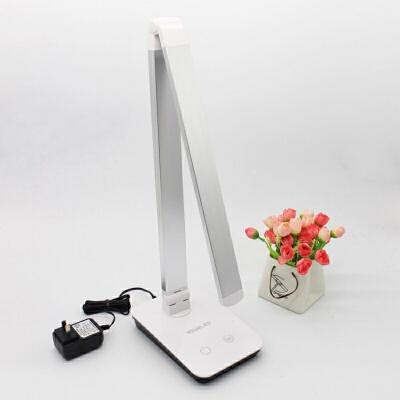 智能蓝牙版台灯 可调光LED创意学习办公工作书房书桌插电看书写字 银色蓝牙版(AAP控制) 触摸开关 手机APP控制 无线蓝牙