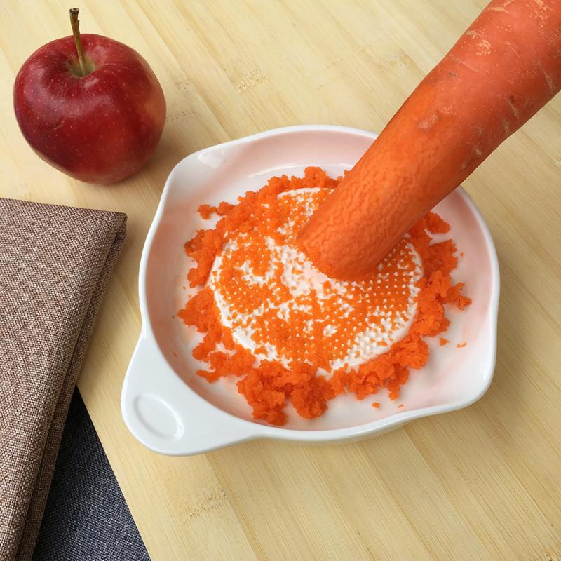 陶瓷骨瓷婴儿辅食研磨器宝宝辅食工具苹果泥机大号手动陶瓷研磨盘A