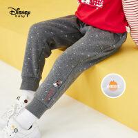 迪士尼女童长裤2020春秋新款宝宝儿童洋气米妮印花童装休闲裤