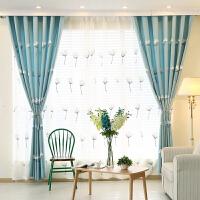 现代简约美式乡村田园韩式棉麻蒲公英窗帘成品窗纱客厅卧室儿童房 3.5*2.7一片 打孔加工(改短)