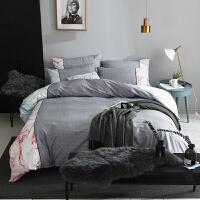 裸睡四件套北欧简约1.5m床单被套床上用品1.8m床单床笠款