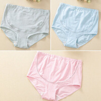 孕妇内裤女棉裆可调节高腰托腹怀孕期大码短裤头透气内衣
