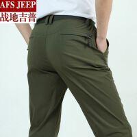 AFS JEEP男装运动裤男长裤夏季薄款宽松大码直筒休闲运动裤子