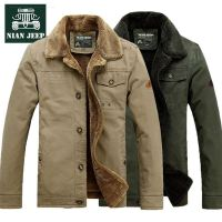 NIAN JEEP男士加厚保暖棉衣冬装加绒纯色宽松休闲棉服外套6803