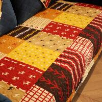 多彩 棉布艺美式沙发垫防滑沙发盖巾套罩坐垫四季通用定制! 多彩