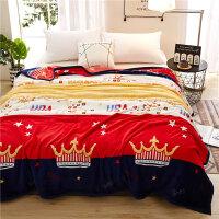 珊瑚绒毛毯冬季加厚床单人宿舍学生午睡小被子保暖单件毯子法兰绒