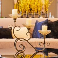 欧式烛台烛光晚餐道具布置用品香氛蜡烛浪漫家居装饰摆件创意实用