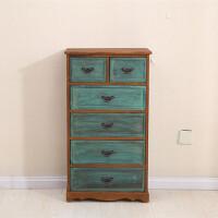 实木田园收纳柜抽屉式整理柜储物柜多层组合卧室木柜儿童宝宝衣柜 1个