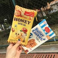 韩国创意趣味零食蜂蜜薯片饼干笔袋手机零钱包学生文具收纳包小包