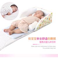 棒棒猪婴儿床中床童床宝宝床便携式婴儿床带枕头纯棉软床