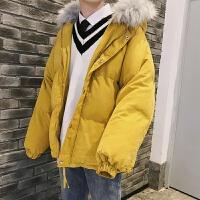 冬季情侣外套面包服韩版帅气加厚棉衣棉袄男潮流潮牌