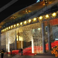 防水LED小彩灯闪灯串灯满天星冰条窗帘灯商场酒店圣诞节日装饰灯