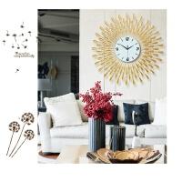大号金色电子挂钟 欧式客厅时钟 创意静音墙贴钟 1301大金