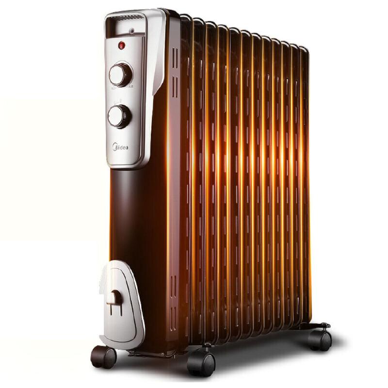 (支持礼品卡支付)【美的官方旗舰店】Midea 美的电暖器NY2513-16J1W 13片电热油汀取暖器/电暖器/电暖气/油汀新型镂空散热片快速加热  倾倒断电阻然材质