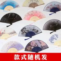丝艺堂日式折扇女式扇子绢扇樱花和风工艺古风折叠中国风小扇女扇