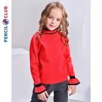 【2件3折�r:35.7元】�U�P俱�凡客��b2020秋冬新款女童套�^毛衣�和�大童花�高�I��衫