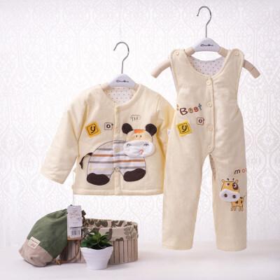 婴儿衣服薄款服装两件套新生儿秋冬季套装男女宝宝背带裤 发货周期:一般在付款后2-90天左右发货,具体发货时间请以与客服协商的时间为准