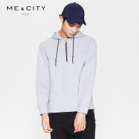 【1件2折到手价:99.8】MECITY男装春季拉链连帽运动风时尚套头卫衣修身