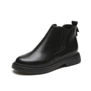 WARORWAR新品YM159-E913-2秋冬休闲平底舒适女士靴子短靴