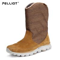 伯希和户外雪地靴 女防滑舒适加绒休闲鞋保暖透气高帮女靴
