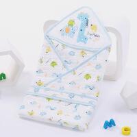 新生儿包被纯棉婴儿抱被夹薄棉抱毯襁褓春夏季薄款小被子宝宝用品