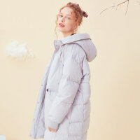 【全场2件2.5折,到手价:249.8】美特斯邦威中长羽绒服女宽松魅力茧型时尚百搭外套冬装新款潮