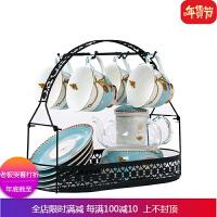 陶瓷壶耐热玻璃欧式下午茶英式家用蜡烛加热水果茶具茶杯套装 自店营年货
