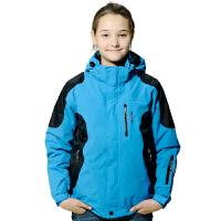 AIRTEX亚特户外儿童装加厚两件套冲锋衣男女童保暖防水登山服秋冬