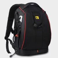 单反相机包背包双肩摄影包防盗摄像机包尼康佳能包s6 精装功能安诺版黑红大号