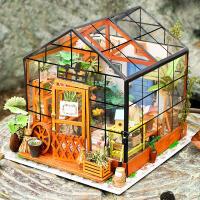 萌味 DIY小屋 新款模型手工拼装房子凯西花房送儿童朋友情人节生日礼物学生男女创意礼品