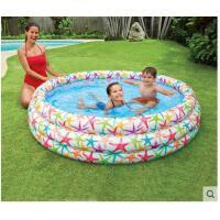 圆形泳池小孩充气戏水玩具彩色家用水池家庭海洋球池婴儿游泳池沙池