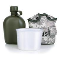 征伐 军用水壶 户外水杯野营露营登山保温水壶带铝饭盒保暖套