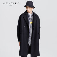 【1件3折到手价:311.97】MECITY男装羊毛保暖宽松中长款呢大衣外套