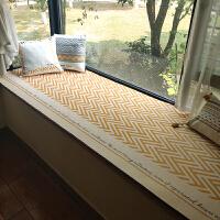 飘窗垫定制窗户垫榻榻米阳台垫子沙发垫卡座垫定做坐垫客厅地垫夏 新黄垫(米底) 满118送脚垫