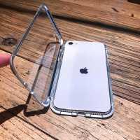 iPhone SE手机壳苹果SE2双面玻璃磁吸全包防摔透明新款第二代2020万磁王金属男女保护套潮牌网红抖音个性创意