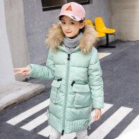 女童棉衣2018新款加厚中长款洋气儿童冬装中大童韩版冬季棉袄